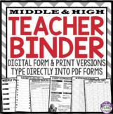 TEACHER BINDER