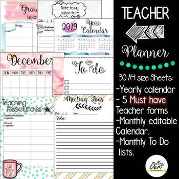 Back To School Teacher Planner