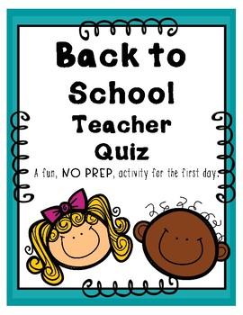 Back To School Teacher Quiz
