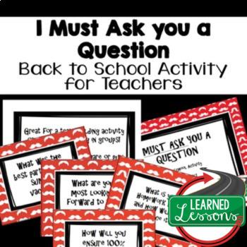 Back To School Teacher Task Cards FREE