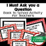 Back To School Teacher PD Task Cards FREE