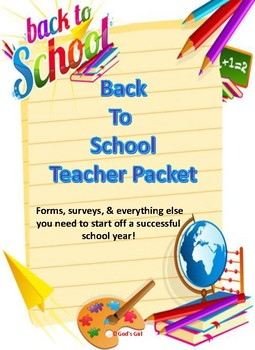 Back To School Teacher's Packet