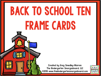 Back To School Ten Frame Cards!