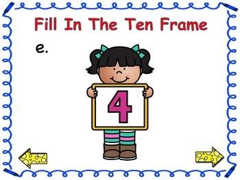 Back To School Ten Frame Match