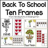 Back To School Ten Frames Unit (Kissing Hand, Chicka Chicka, Apples)