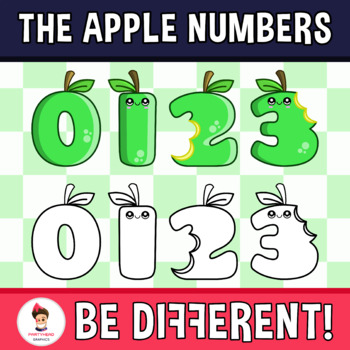 Back To School - The Apple Numbers Clipart