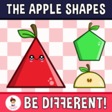 Back To School - The Apple Shapes Clipart