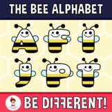 Bee Alphabet Clipart Letters (ENG-SPAN.)