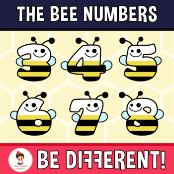Back To School - The Bee Numbers Clipart