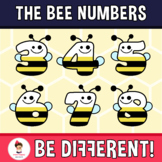 Bee Numbers Clipart