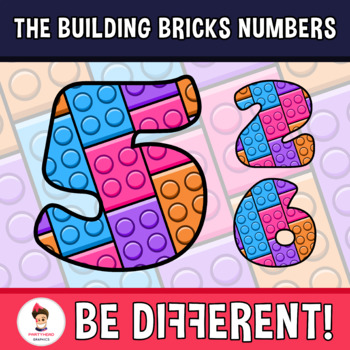 Building Bricks Numbers Clipart