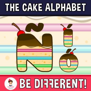 Cake Alphabet Clipart Letters (ENG.-SPAN.)