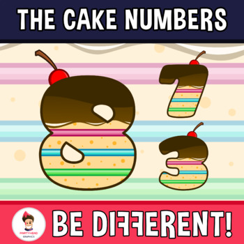 Cake Numbers Clipart