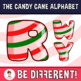 Back To School - The Candy Cane Alphabet Clipart Letters (ENG.-SPAN.)