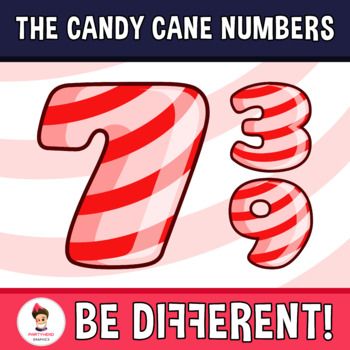 Back To School - The Candy Cane Numbers Clipart
