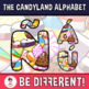 Back To School - The Candyland Alphabet Clipart Letters (ENG.-SPAN.)