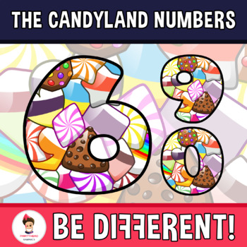 Back To School - The Candyland Numbers Clipart