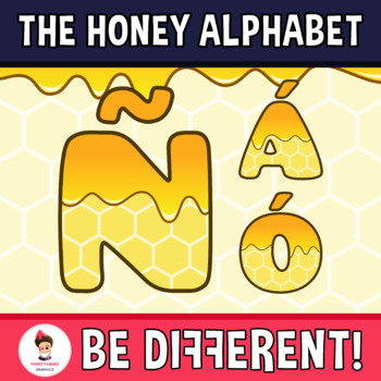 Back To School - The Honey Alphabet Clipart Letters (ENG.-SPAN.)
