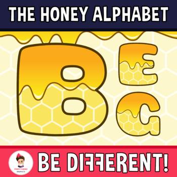Honey Alphabet Clipart Letters (ENG.-SPAN.)