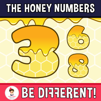 Honey Numbers Clipart