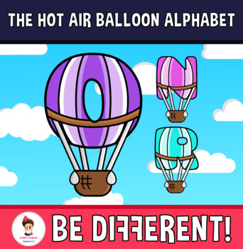 Back To School - The Hot Air Balloon Alphabet Clipart Letters (ENG.-SPAN.)