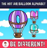 Back To School - The Hot Air Balloon Alphabet Clipart Lett
