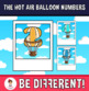 Hot Air Balloon Numbers Clipart