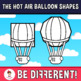Hot Air Balloon Shapes Clipart