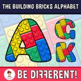 Back To School - The Building Bricks Alphabet Clipart Lett