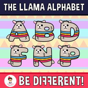 Back To School - The Llama Alphabet (ENG-SPAN.) Clipart