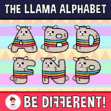 Llama Alphabet Clipart Letters (ENG-SPAN.)
