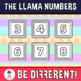 Back To School - The Llama Numbers Clipart