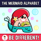 Back To School - The Mermaid Alphabet Clipart Letters (ENG