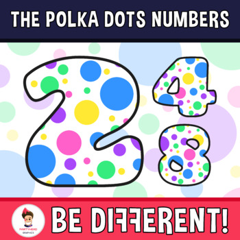 Back To School - The Polka Dots Numbers Clipart