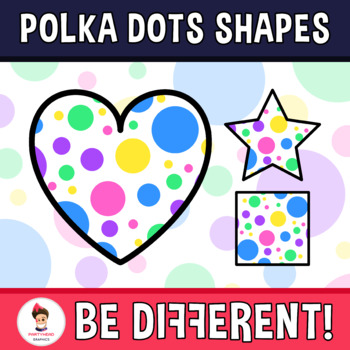 Back To School - The Polka Dots Shapes Clipart