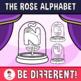 Rose Alphabet Clipart Letters (ENG.-SPAN.)