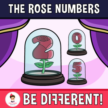 Rose Numbers Clipart