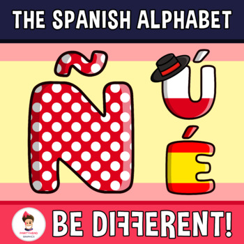 Back To School - The Spanish Alphabet Clipart Letters (ENG.-SPAN.)