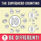 Back To School - The Superhero Counting Clipart