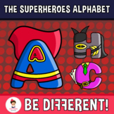 Back To School - The Superheroes Alphabet Clipart Letters