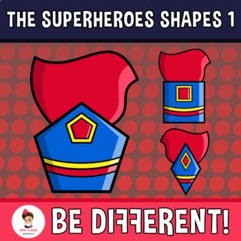 Superheroes Shapes Clipart Set 1