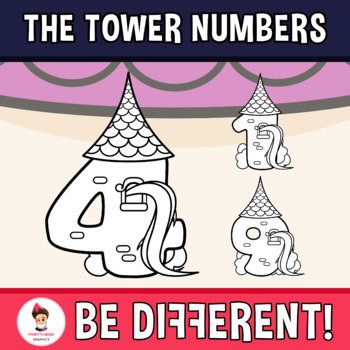 Back To School - The Tower Numbers Clipart