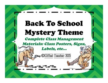 Back To School Theme: Mystery Agent/Spy