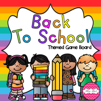 Back To School Themed Game Board