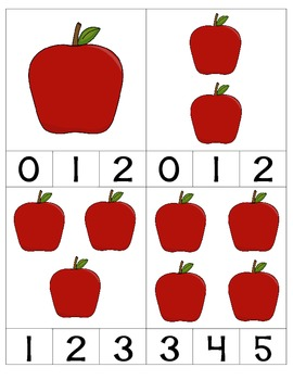 Back To School Themed Number Match and Write