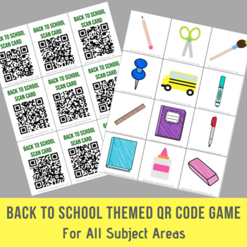 Back To School Themed Open Ended QR Code Game - For All Subject Areas