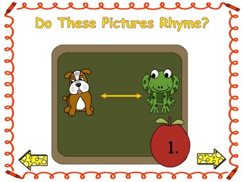Back To School Thumbs Up, Thumbs Down Rhyming Digital Literacy Station