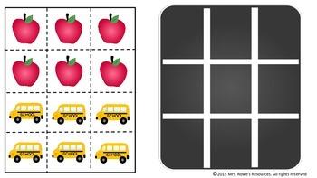 Kindergarten Math Back To School Tic Tac Toe