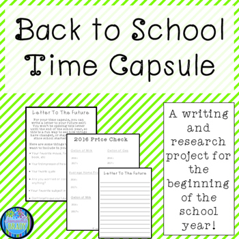 Back To School Time Capsule-Updated (2017-2018)