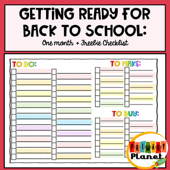 Back To School To Do List!